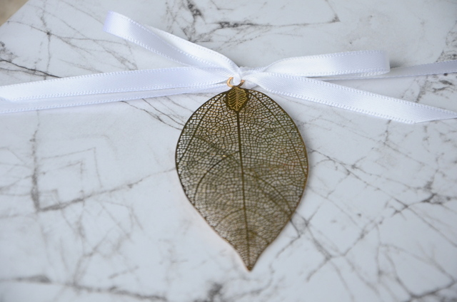 Gift wrapping gold leaf
