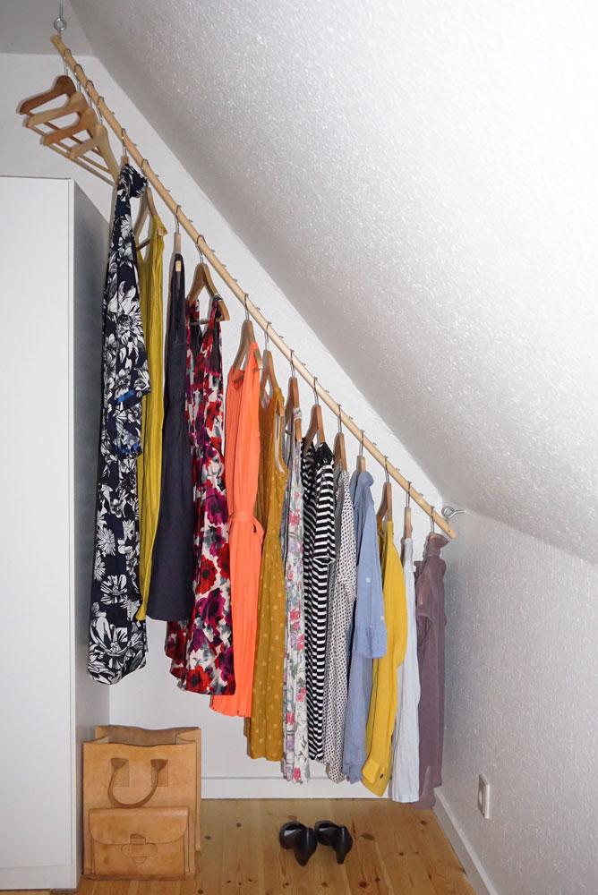 Skråvæg garderobe DIY