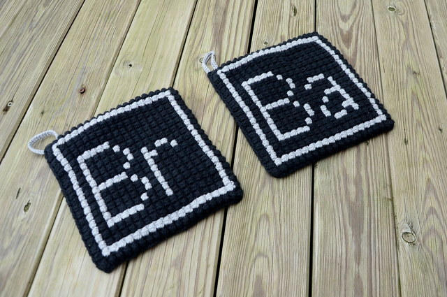 Breaking Bad potholders Chrochet
