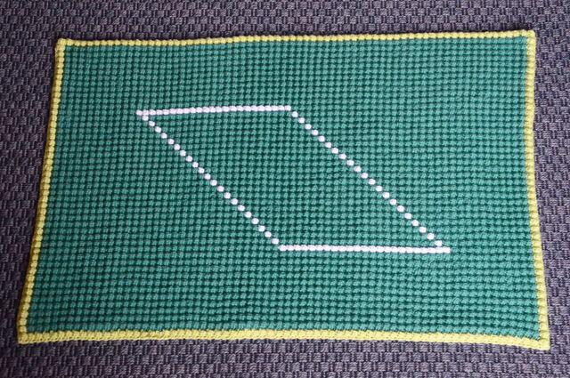 Crochet bubble mat