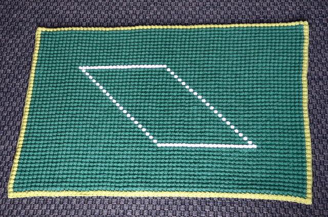 Bath mat crochet