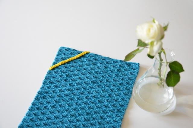 Hæklet håndklæde, Bølgemønster, crocheted towel