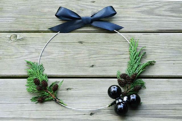 Julekrans, dørkrans, christmas wreath. diy julekrans