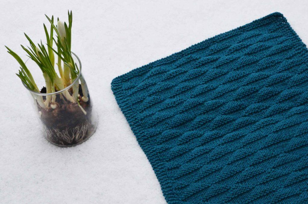 Håndklæde med trekantmønster opskrift
