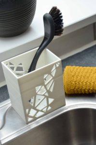 3D print, holder til opvaskebørste