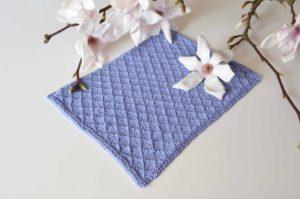 Strikket håndklæde opskrift