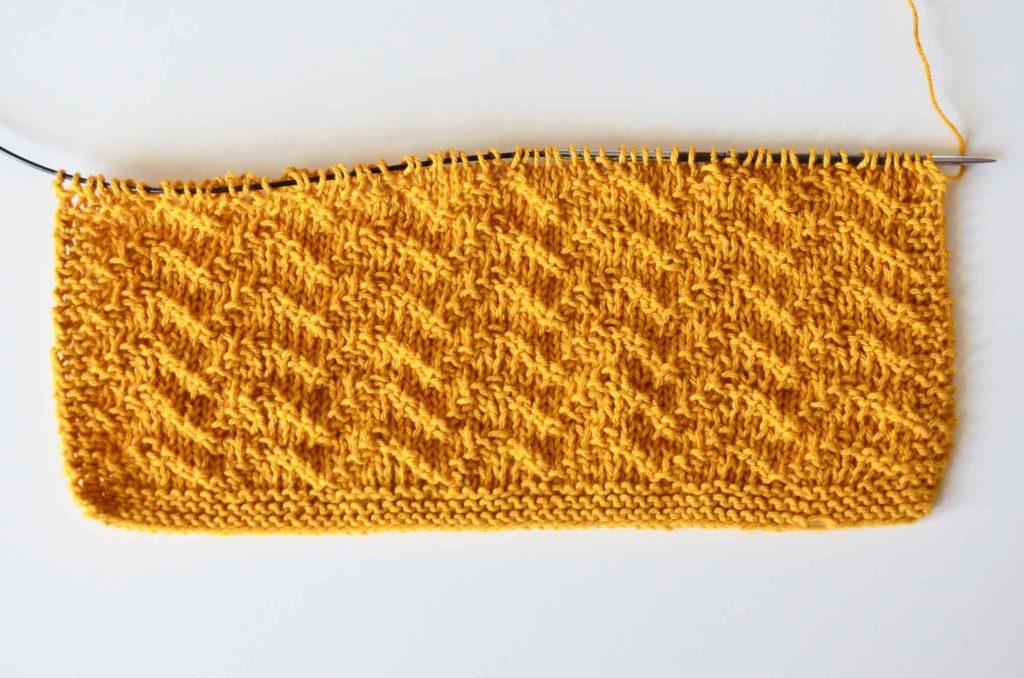 strikkediagram strikket karklud opskrift