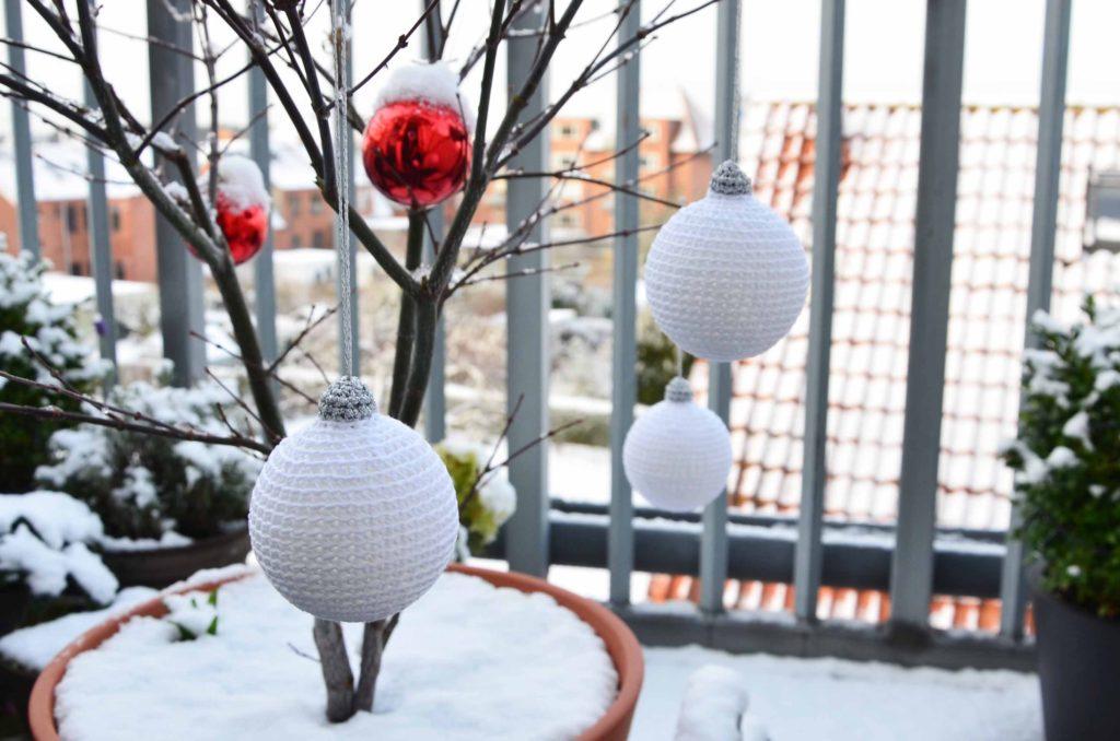 Hæklede julekugler opskrift DIY