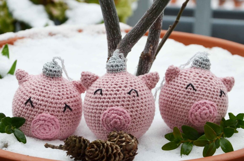 DIY opskrift julekugle gris