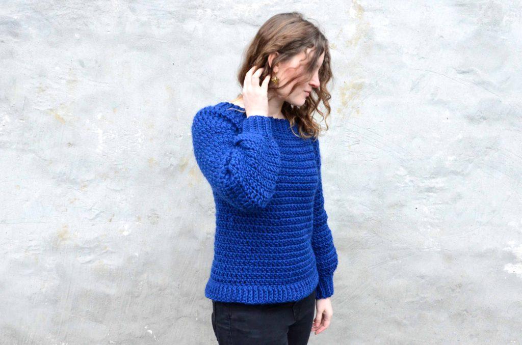 hæklet sweater opskrift