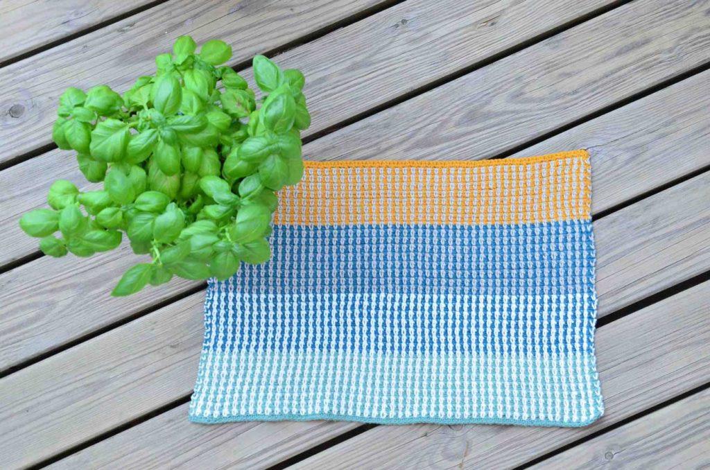 Hæklet håndklæde vævehækling