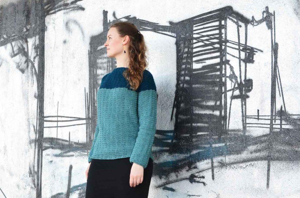 Hæklet sweater tordentrøje