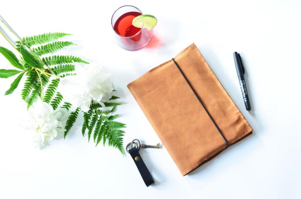 Omslag, cover, diy, skind, læder, notesbog
