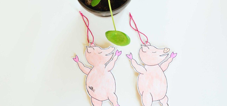Grisetegning, ophæng gris