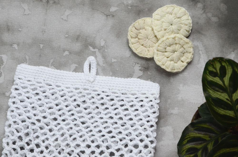 DIY hæklet vaskepose opskrift
