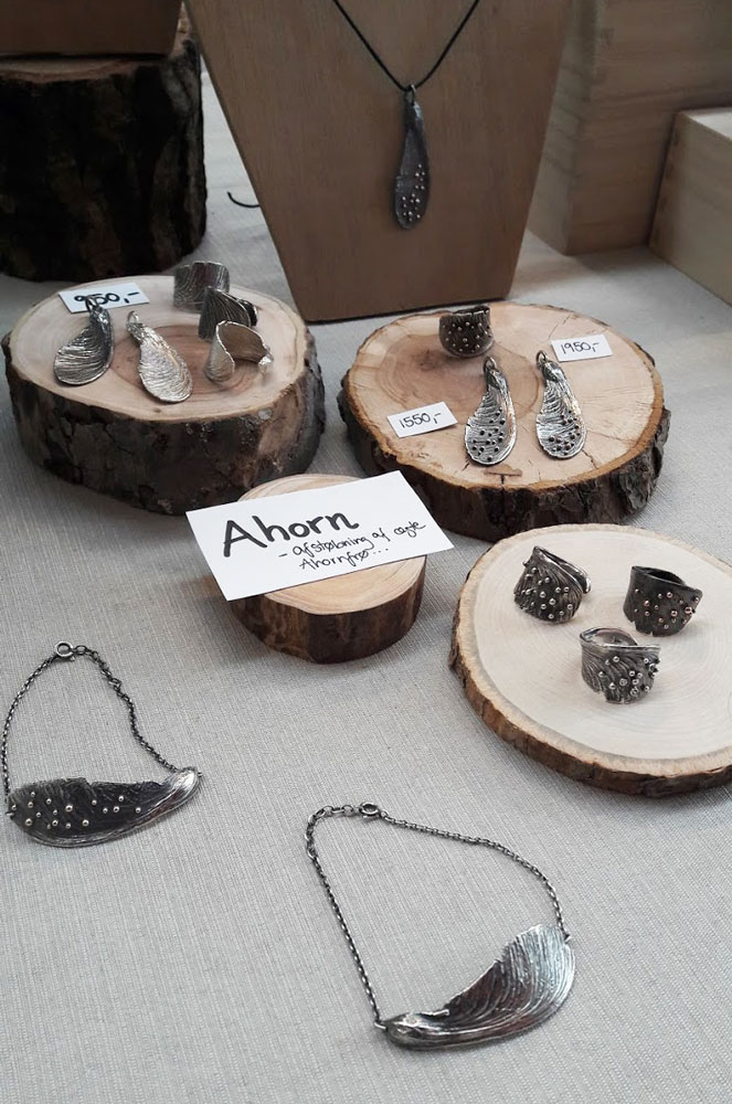 Upcomers Mie Sunekær Smykker sølv ahorn frø