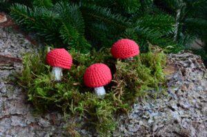 hæklet mini svamp